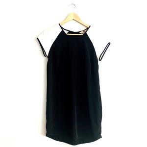 Banana Republic Black White Shortsleeve Dress